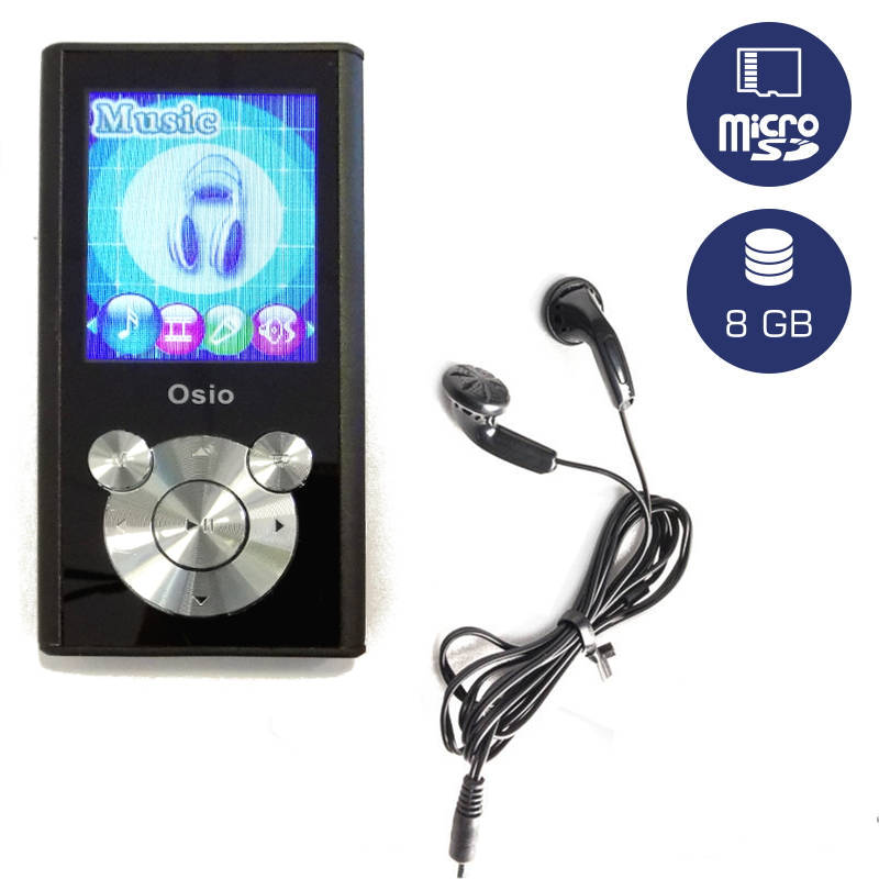 OSIO SRM-9080BS MP3 / VIDEO PLAYER 8GB